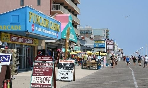 Shops along the boardwalk