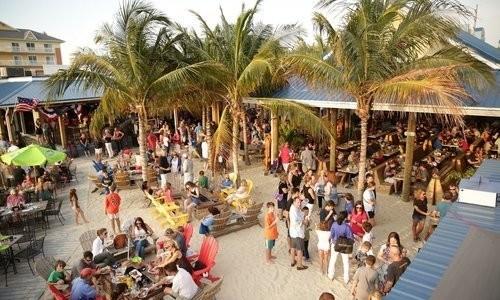 Aerial view of Outdoor Dining at Ropewalk Ocean City