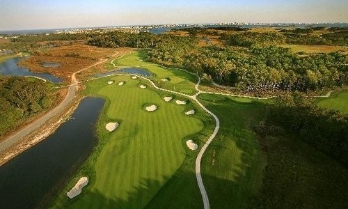 Aerial view of Bayside Golf Course