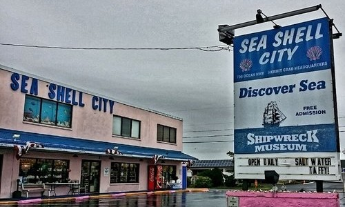 Exterior of Sea Shell City DiscoverSea Building