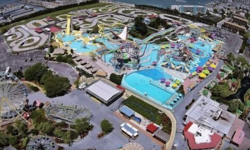 Aerial view of Jolly Roger Amusement Park